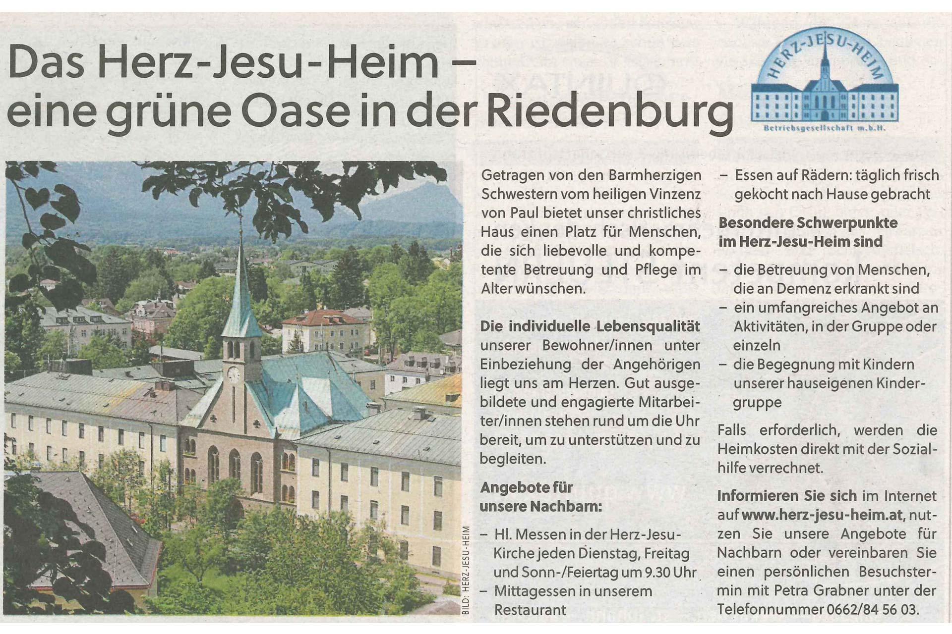 Beitragsbild Eine grüne Oase in der Riedenburg